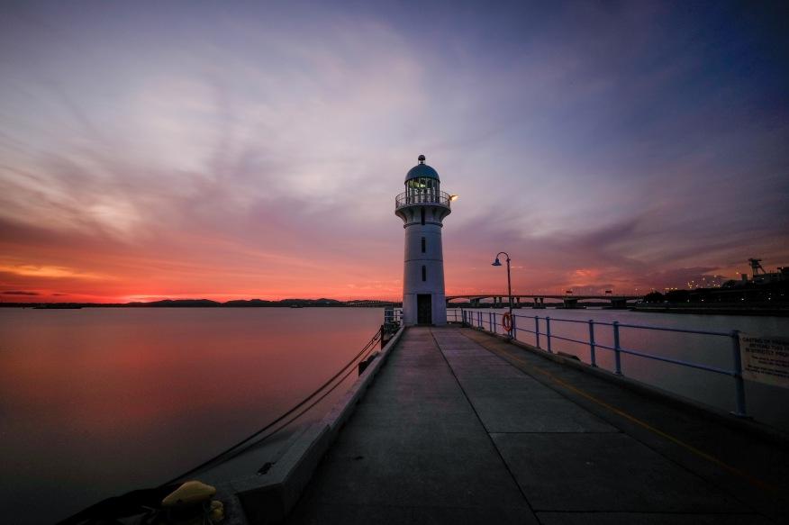 Lighthouse at Raffles Marina
