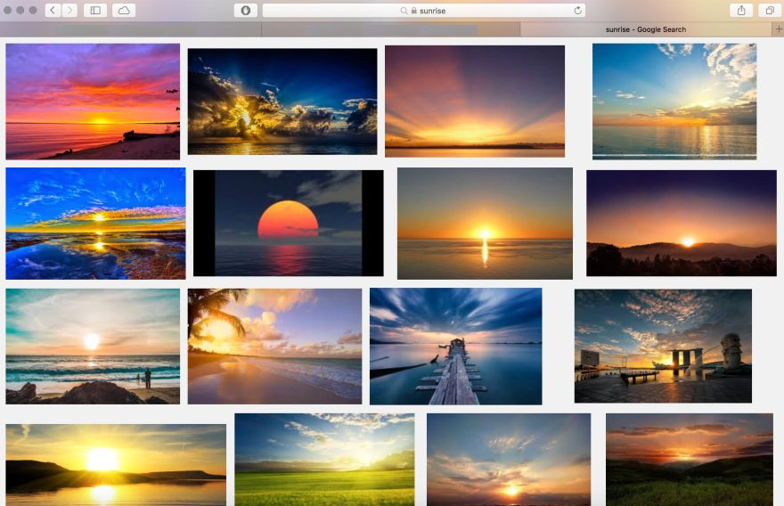 All the post-processed sunrise shots from the internet